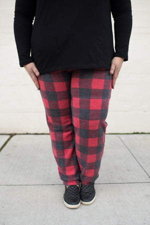 Buffalo Plaid Fleece Joggers (SM-3X)