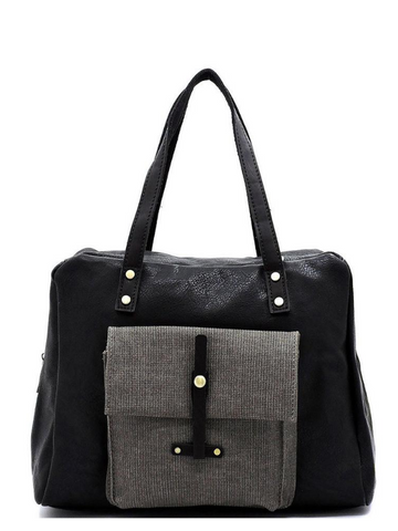Black 2 Tone 2way Satchel