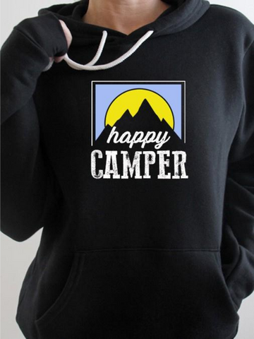 Black Happy Camper Sunrise Hoodie - Unisex