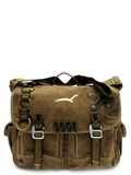 Brown Canvas Utility Messenger Bag