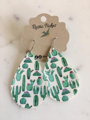 Cactus Teardrop Earrings