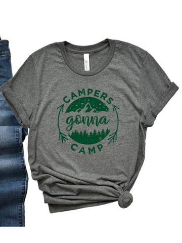 Campers Gonna Camp Unisex Graphic Tee