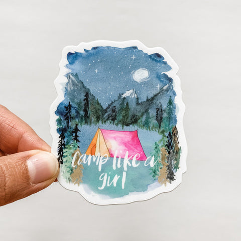 Camp Like A Girl Sticker