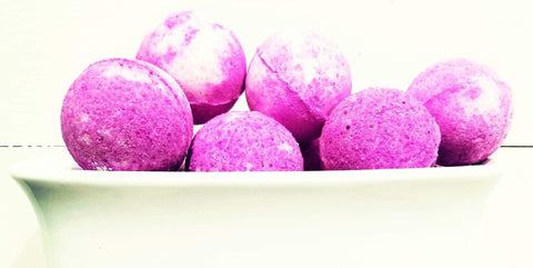 Coconut Strawberry Melon Bath Bombs