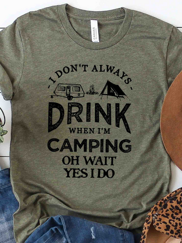 Drink At Camp Unisex Graphic Tee