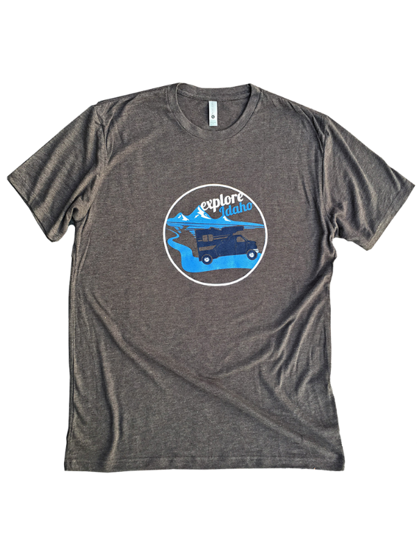 Explore Idaho RV Unisex Tee - Brown