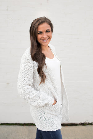 Bone Popcorn Pocket Cardigan (SM-3X)