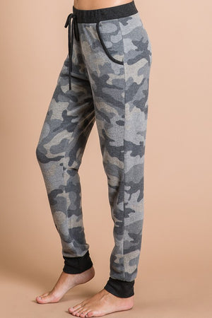 Gray Camo Fleece Joggers (SM-XL)
