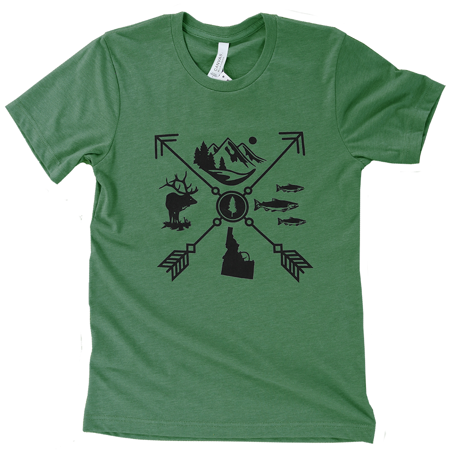 Idaho Arrow Unisex Tee - Green