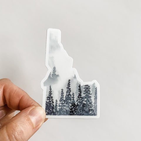 Idaho State Gray Forest Sticker