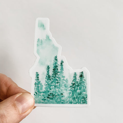 Idaho State Green Forest Sticker