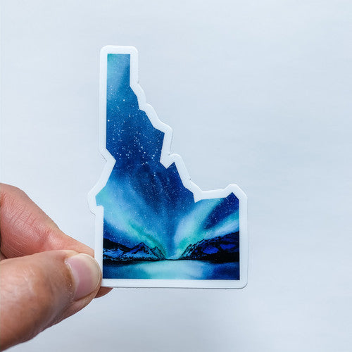 Idaho State Northern Lights Sticker