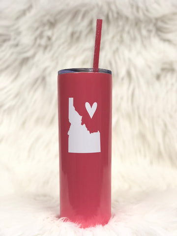 Idaho Love Tall Tumbler-Coral