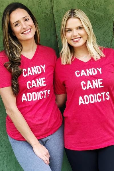 Candy Cane Addicts Graphic Tee