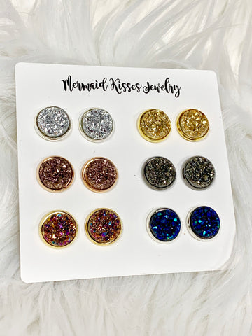 Druzy Earring Favorites 6pc Set