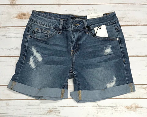 JB Light Wash Distressed Cuffed Denim Jean Shorts