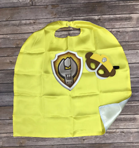 Rubble Shield Paw Patrol Mask & Cape Set