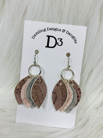 Mini Quad Layered Dangle Earrings
