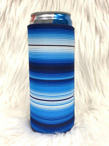 Blue Serape Slim Can Cooler