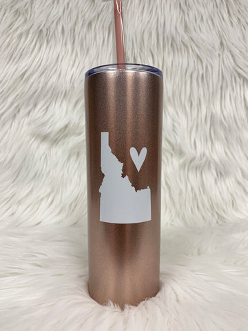 Idaho Love Tall Tumbler-Rose Gold