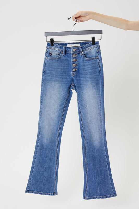 "KanCan Ellie Button Fly Bootcut Jeans - 31"" Inseam"