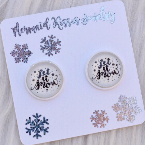 Let It Snow Stud Earrings