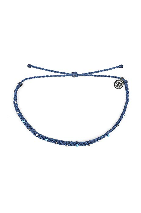 marine blue pura vida mini braid bead anklet