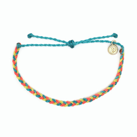Rainbow Sherbert Mini Braided Pura Vida Bracelet
