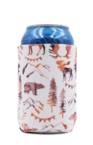 Mountain Bear Can Cooler