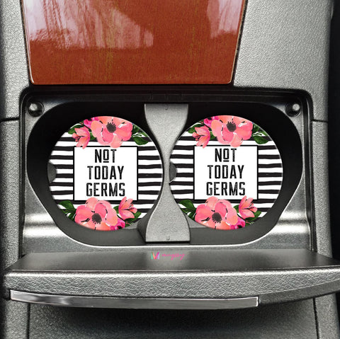 Not Today Germs Car Coasters On The Go