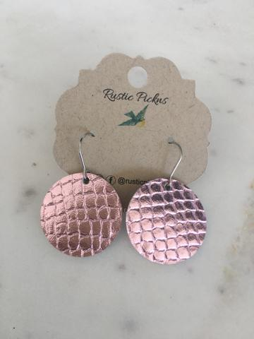 Pink Cobra Round Earrings