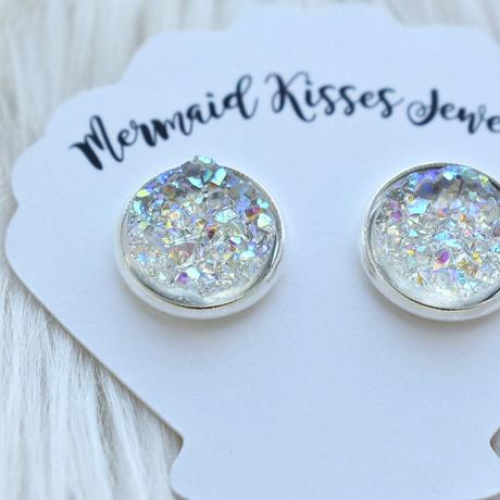 Unicorn AB Druzy Stud Earrings