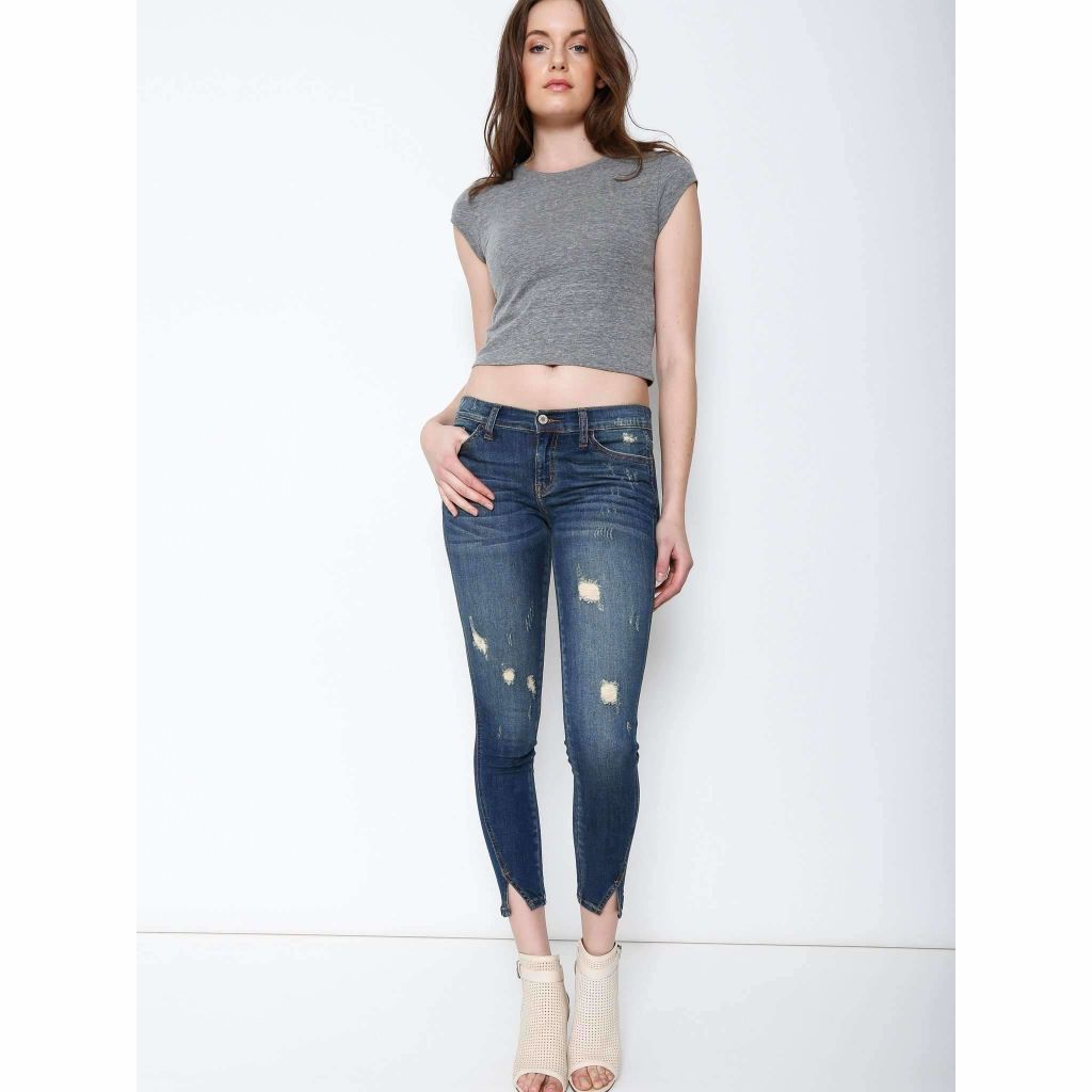 KanCan Weston Destroyed Cropped Skinny Jeans