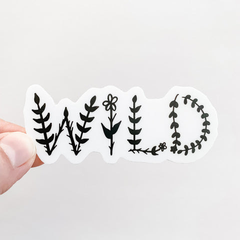 Wild Floral Letters Sticker