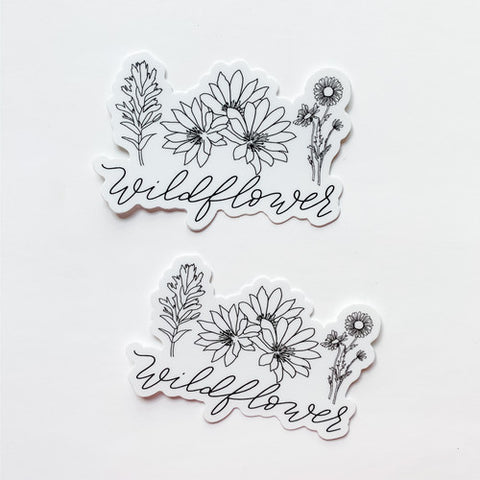 Wildflower Trio Sticker