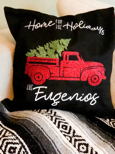 Christmas Truck Pillows
