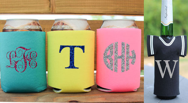 Monogram Drink Coozies