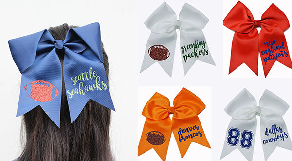 Sports Team Cheer Bows