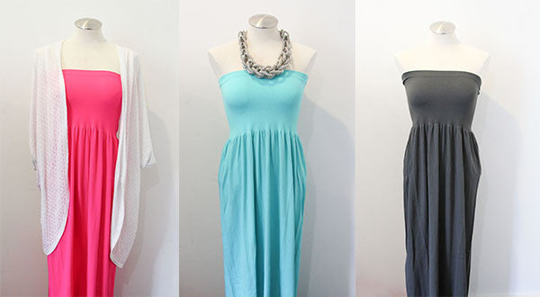 Strapless Solid Maxi Dress | 3 Colors