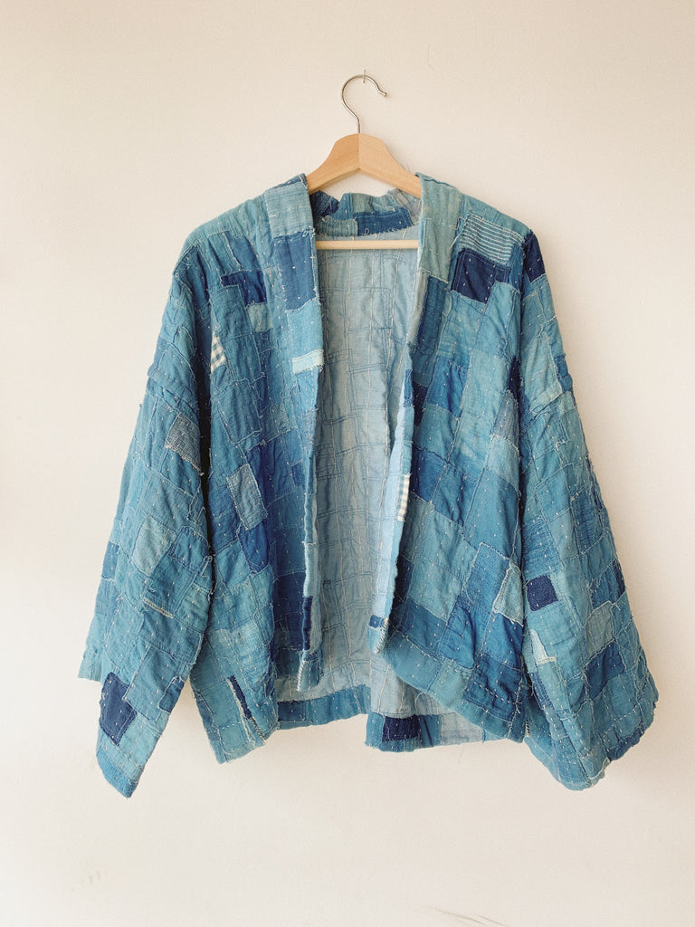 REVERSIBLE INDIGO PATCHWORK JACKET