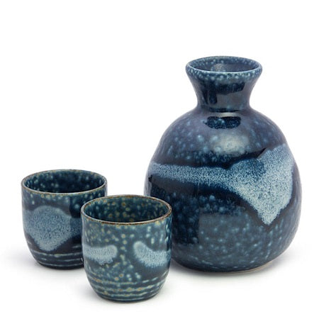 AOIRABO SAKE  3PC SET - JP CERAMICS-children-todler-kids-baby-clothing-shopboygirl