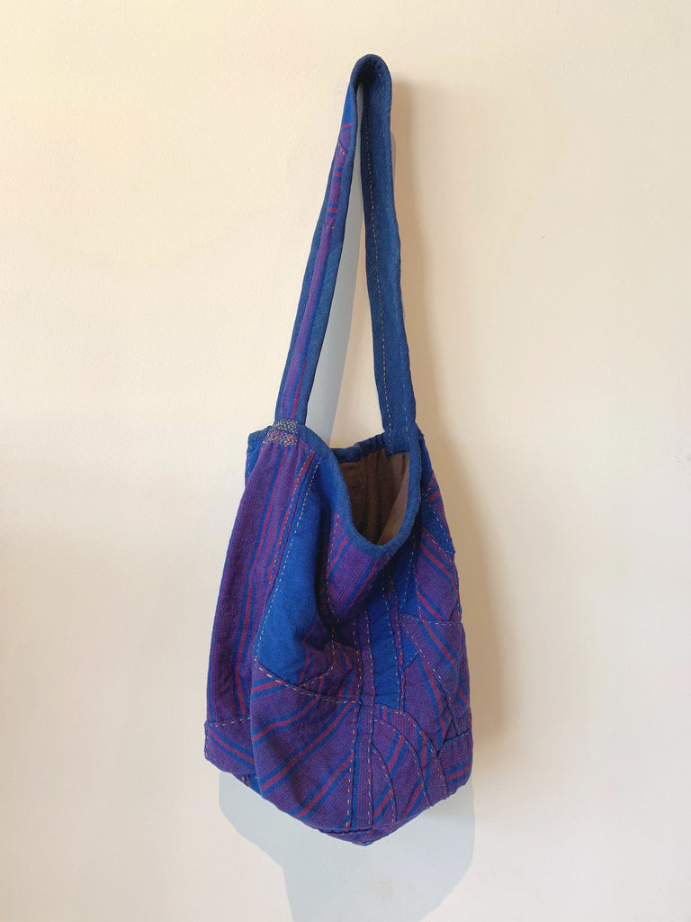 INDIGO TOTE - HAND SEWN PATCHWORK-children-todler-kids-baby-clothing-shopboygirl