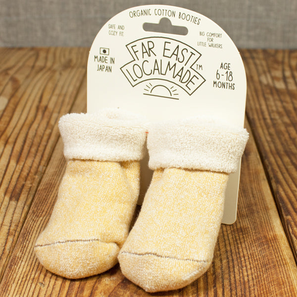 YELLOW ORGANIC COTTON BOOTIES - JAPAN