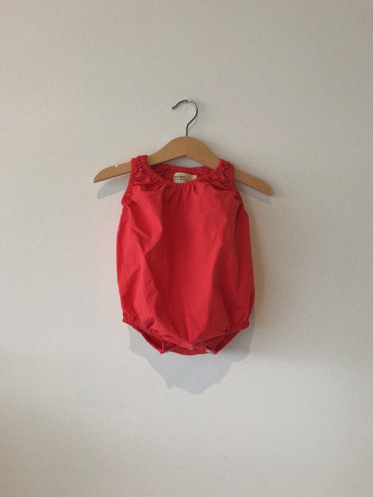 baby bubble in apple organic poplin cotton
