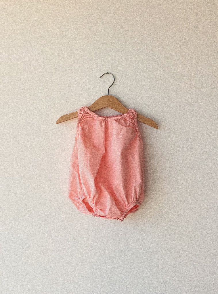 baby bubble in guava organic poplin cotton