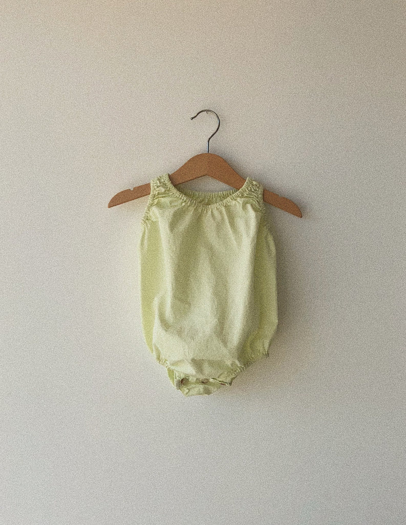 baby bubble in pistachio organic poplin cotton