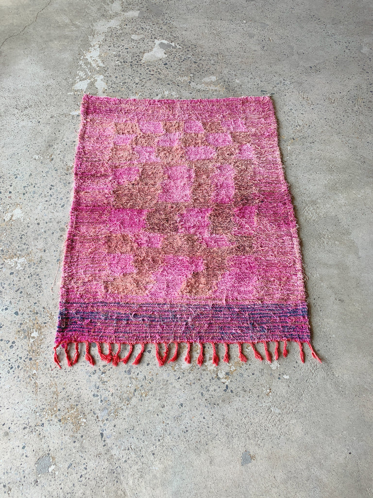 PINK/BROWN - MOROCCAN RUG