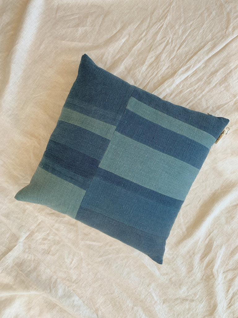 MEDIUM INDIGO PILLOW - CATHY CALLAHAN-children-todler-kids-baby-clothing-shopboygirl