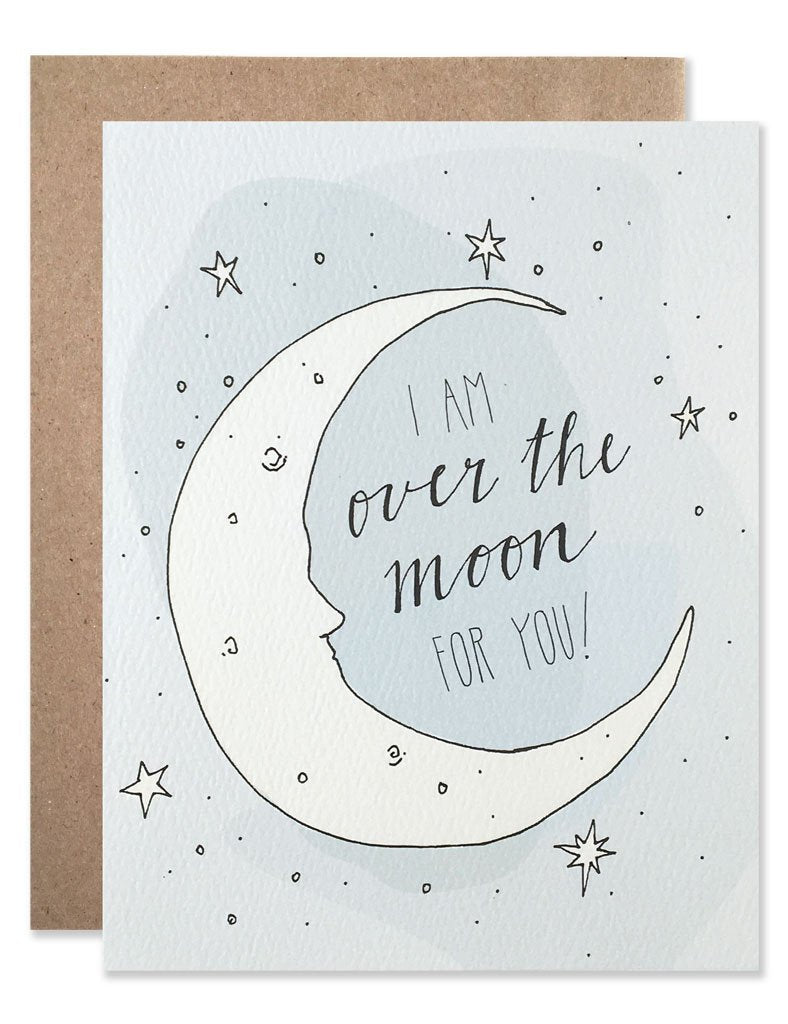 GLOW IN THE DARK GREETING CARD - OVER THE MOON-children-todler-kids-baby-clothing-shopboygirl