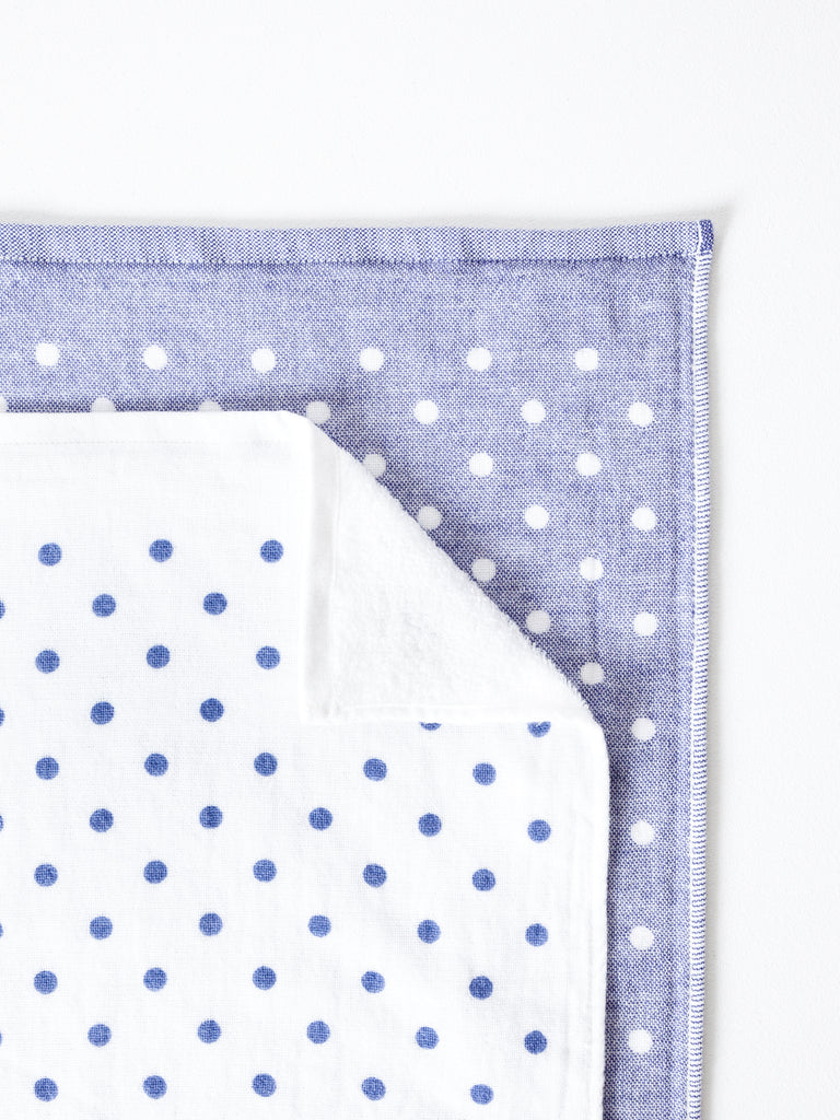 JP POLKA DOT CHAMBRAY TOWEL - JAPANESE ORGANICS-children-todler-kids-baby-clothing-shopboygirl